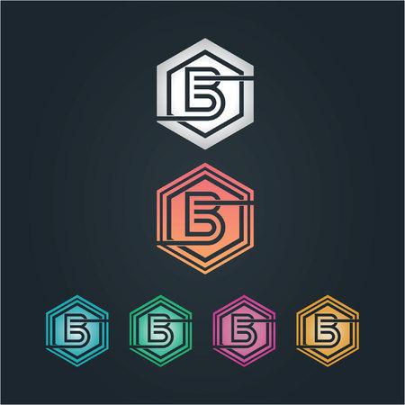 b hexagone logo Иллюстрация