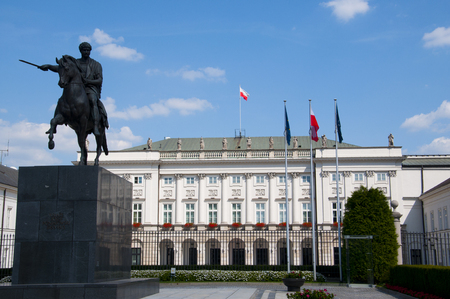 The Presidential Palace in Warsaw, Poland Stock Photo