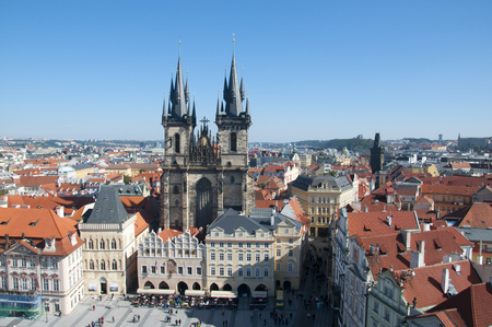 Prague. Church of Our Lady Before Tym photo