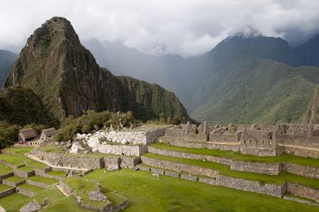 past civilization: The incan ruins of Machu picchu, Peru Stock Photo