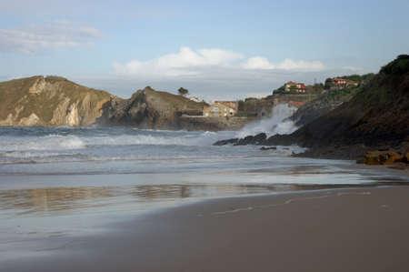 comillas beach spain.