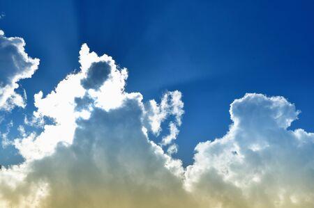 cloud scape: Blue sky