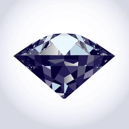brilliant diamond on soft grey to white background.  Illustration