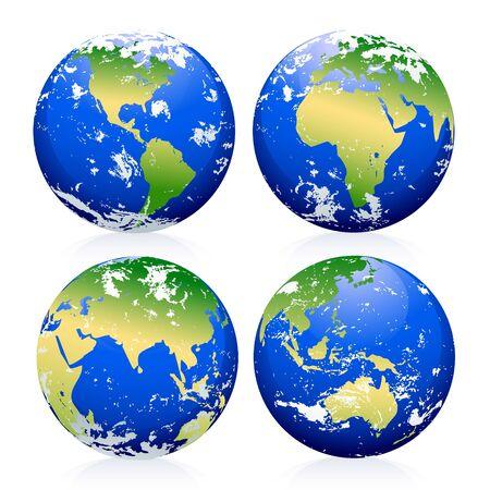 青い地球のビー玉。