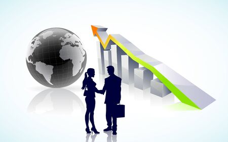 Global business success concept   Çizim