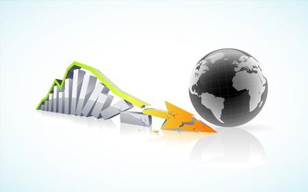 einsturz:   globalen finanziellen Zusammenbruch Konzept