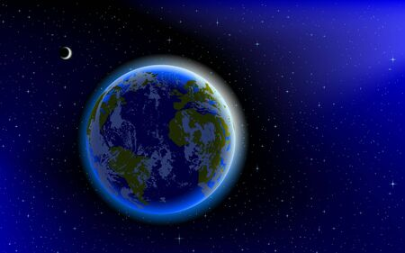 Blue Marble, planet Earth in space Stock Vector - 7917861