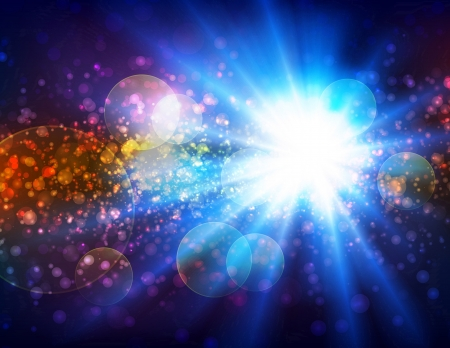 Light burst background with lots of particles.