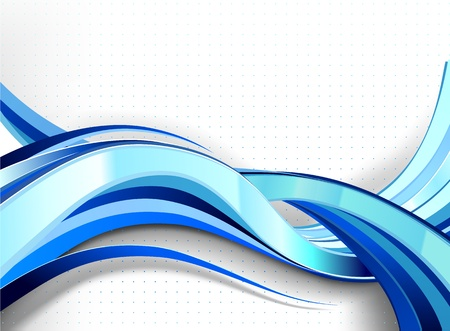 Stylish abstract wave flow. No transparencies used. Gradient mesh used. Ilustração
