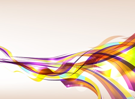 Abstract colorful background flow. Eps 10 transparences used on other than normal mode. Gradient mesh used. Vector