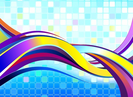Abstract Colorful Wave. No transparencies used. Gradient mesh used. Stock Vector - 12479707