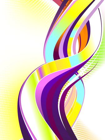 Abstract colorful awirl.  No transparencies used. Gradient mesh used.