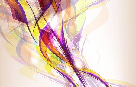 Abstracte kleurrijke achtergrond flow. Eps 10 transparences gebruikt op andere dan de normale modus. Gradient mesh gebruikt. Stock Illustratie