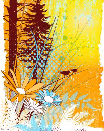 Abtract nature collage Vector