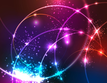 glowing: Sparkly Abstract Background.
