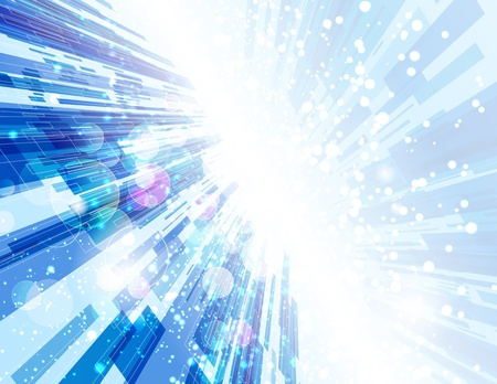 Warp Speed Abstract Background.  Illustration