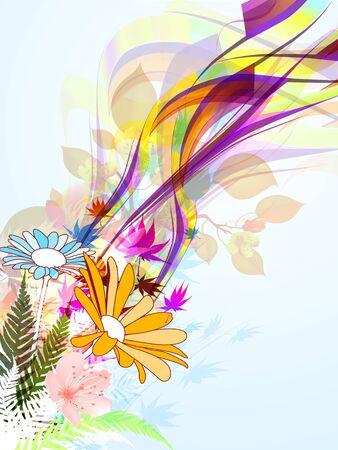 daisie: Vedere i colori! Colorful illustrazione collage naturale
