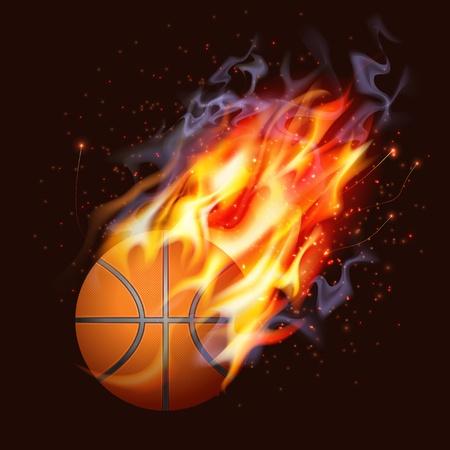 pelota de basquet: Baloncesto On Fire