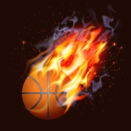 basketball ball on fire: Basketball On Fire