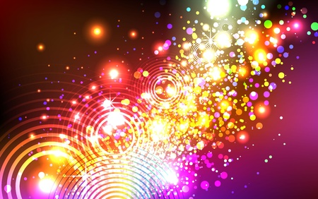 particle: sparkly colorful explosion background
