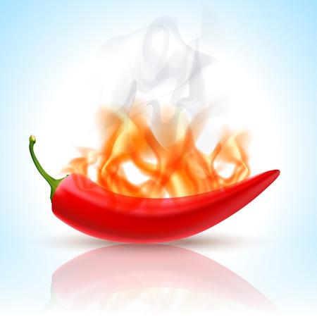 Nagrywanie papryka chili Ilustracje wektorowe