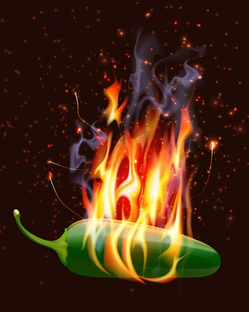 red jalapeno: Burning Hot Jelapeno Pepper