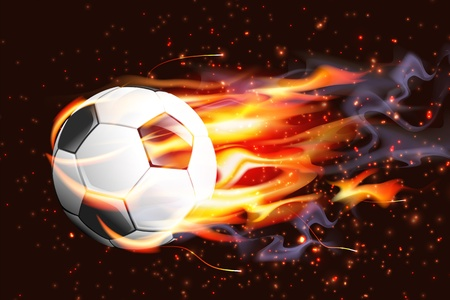shiny background: Soccer Ball On Fire