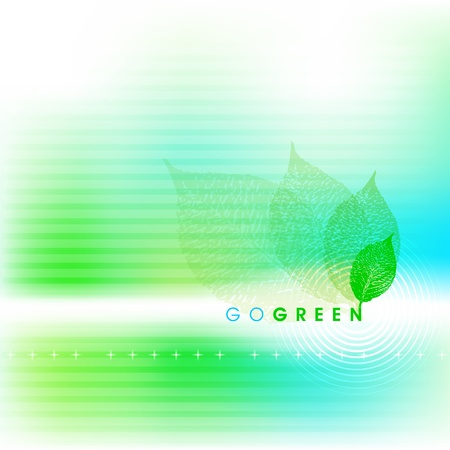 Go green abstract background Vector