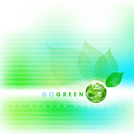 save the planet: Soft Go Green Background