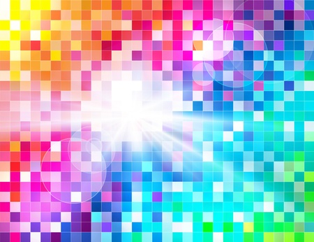 Abstract Spectrum Mosaic Stock Vector - 12987597