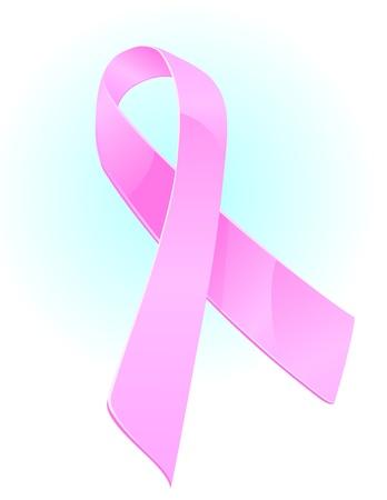 光沢のある乳房癌意識のリボン図