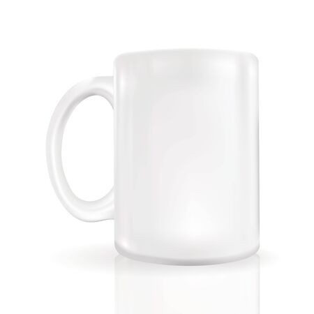 photo-realistic blank coffee mug close up