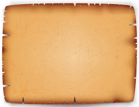 Ilustración de un viejo trozo de un viejo papel manchado