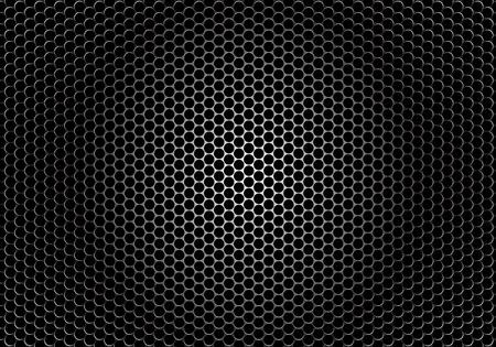 detaled textor of a speaker grille on dark background Illustration