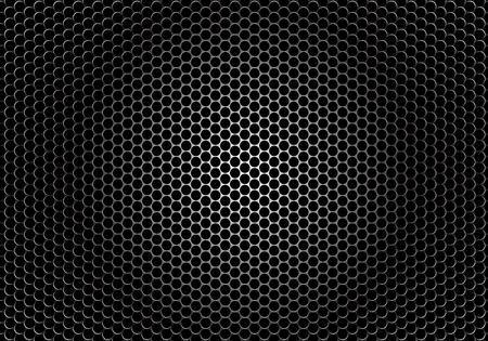 grille: detaled textor of a speaker grille on dark background Illustration