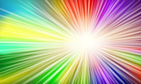 illustration of a colorful background with bursting light