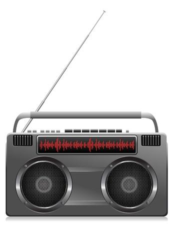 gedetailleerde illustratie van een digitale stereo-boombox