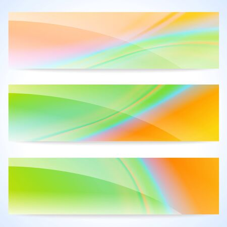 Set of three stylish abstract banners illustration