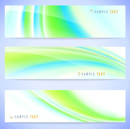 Set of three stylish abstract banners illustration  Vector