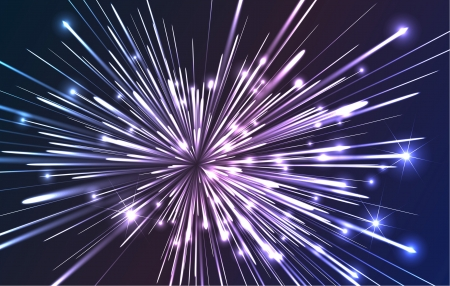 Abstract illustration showing a burst of fiber optics spreading out from the source