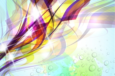 textured: Abstract colorful flow on soft textured background.