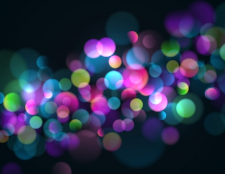 Blurry lights background with colorful sparkling lights.