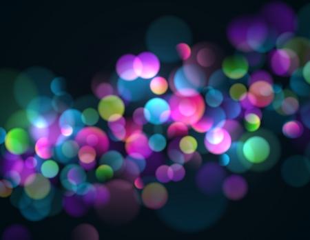 Onscherpe lichten achtergrond met kleurrijke fonkelende lichtjes.