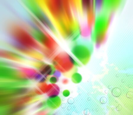 Abstract with blurred colours on soft wet background. photo