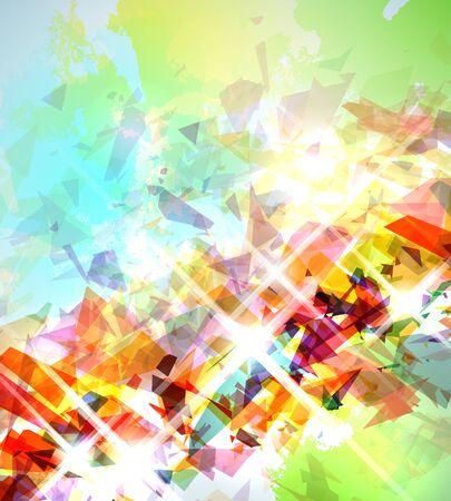 arte abstracto: Ilustración abstracta con elementos rotos sobre fondo de textura suave.