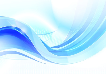 Stylish abstract wave flow on soft background  Vector
