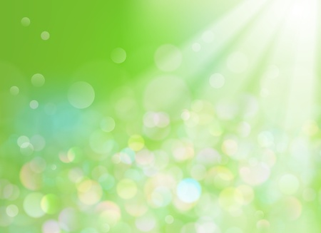 Soft defocused background with sunrays coming through  Vector