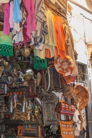 Colouring in handicraft market of Tanger Stock fotó