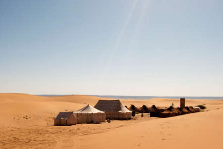 Haimas Arab populated desert in the middle of Merzouga photo