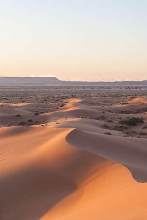 merzouga: Desert sunrise Merzouga Morocco Stock Photo
